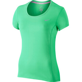 Nike Dry Contour Kortärmad löpartröja Dam grön